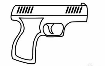 画手枪的简笔画方法